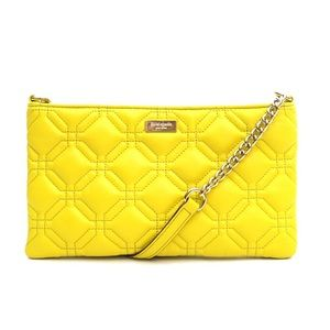 Kate Spade Yellow Quilted Leather Crossbody Bag
